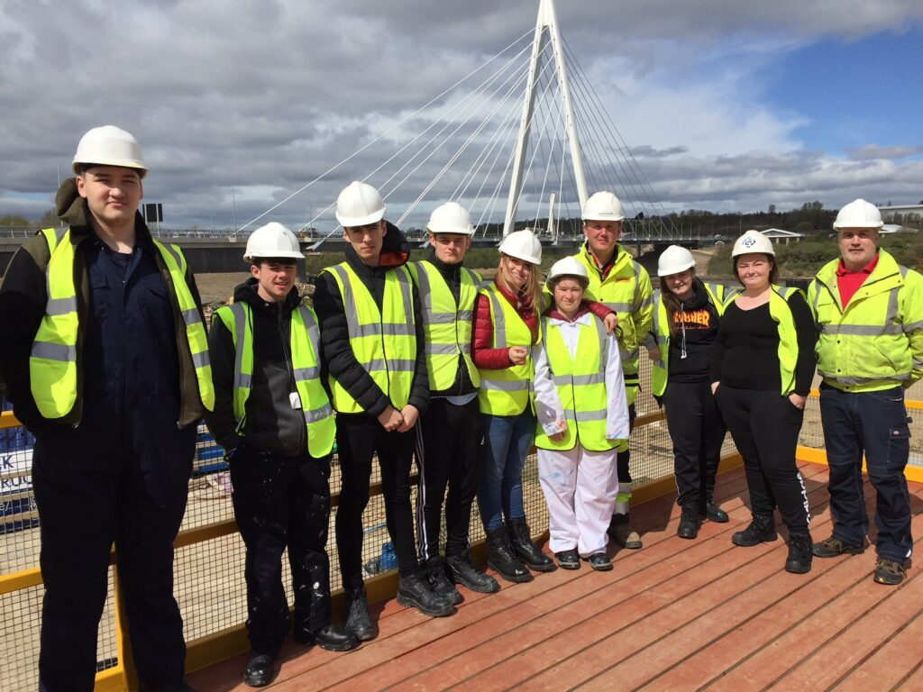 springboard construction learners at the northern spire bridge
