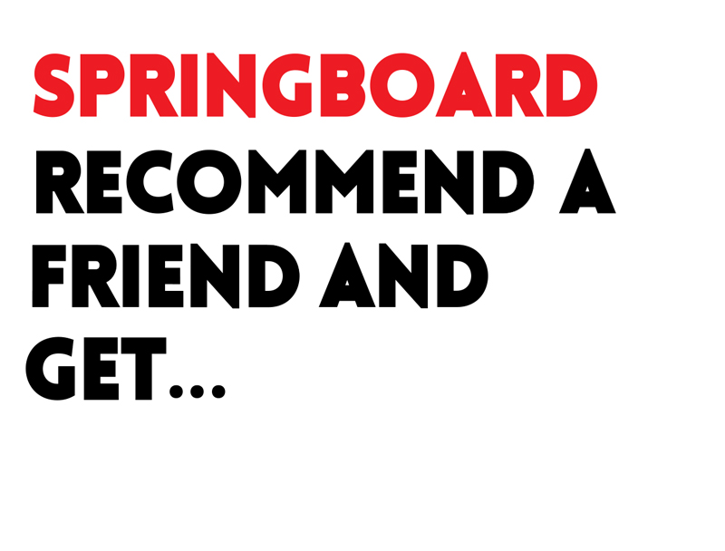 Recommend A Friend Scheme Springboard North East